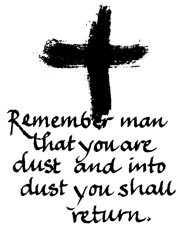 Ash Wednesday A Congregation Of The North American Lutheran Church